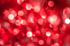 Red blur circle lights as christmas background. Stock Photos
