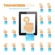 Touch screen gestures icons Stock Illustration
