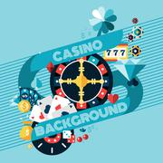 Casino Gambling Background - stock illustration