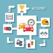 Auto Sport Concept - stock illustration