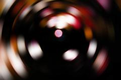 colorful blur vortex isolated on black background. - stock photo