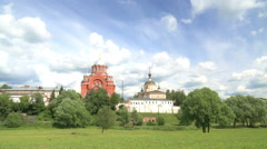 Stock Video Footage of Pokrovsky Convent timelapse 4K