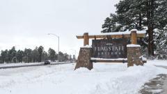 4K Flagstaff Arizona Sign Stock Footage