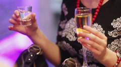 Festive cocktail party Stock Footage