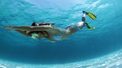 Lady diver - stock footage