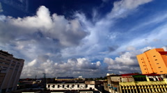 Clouds over city Stock Footage