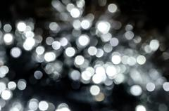 blur circle silver lights like abstract background. - stock photo