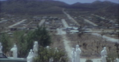 Yucca Valley CA View 16mm 60s Desert Christ Park - stock footage
