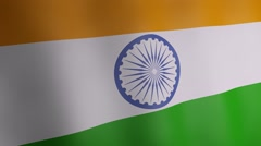 3d India national flag. - stock footage