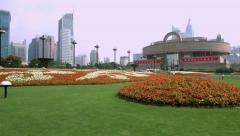 Shanghai Museum in China, BlackMagic 4K Camera Stock Footage