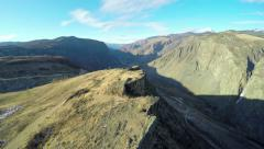 4K Aerial Footage Flying Over the Rock in a Mountain Gorge Stock Footage