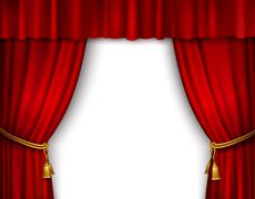 Stage curtain isolated Stock Illustration