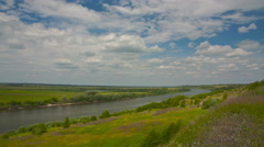 Riverbank landscape timelapse 4K Stock Footage