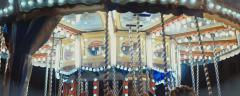 Carousel spinning (anamorphic) - stock footage