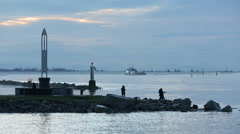 Fishermans Memorial, Garry Point, Richmond Stock Footage