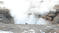Stock Video Footage of Haukadalur hot spring