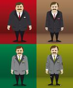 Human character in four different financial situations. Stock Illustration