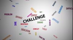 Challenge Word Cloud (60 fps) Stock Footage