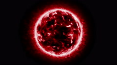 0208 Red Sun Wide, 4K Stock Footage