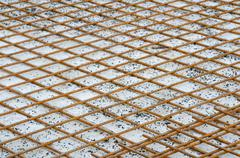 steel bars building construction basis for concrete. - stock photo