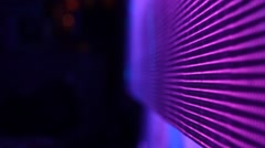 Backstage: lights of the LED screen of stage during the concert (close-up, back) Stock Footage