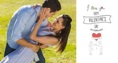Stock Illustration of Composite image of loving and happy couple dancing in park