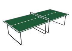 Tennis table - 3D render - stock illustration