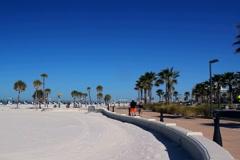 Beach walk along Clearwater beach Stock Footage