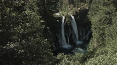 Waterfall Crane Movement Stock Footage