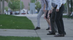 Young professionals race - stock footage