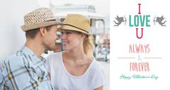 Composite image of young hip couple sitting on bench about to kiss Stock Illustration
