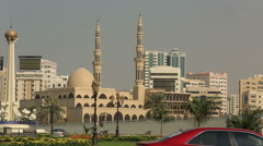 city view of Sharjah - stock footage