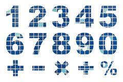 one to zero numbers and basic mathematical symbols - stock photo