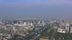 Bangkok cityscape zoom out timelapse 4K Stock Footage