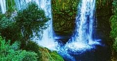4K Manojlovac waterfall close-up Stock Footage