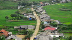 Time Lapse of Scenic Hmong Rice Village in the Northern Mountains - Sapa Vietnam Stock Footage