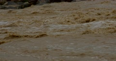 Water  flood  mud - close up Stock Footage