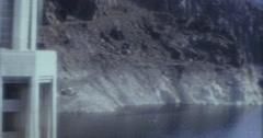 Lake Mead Waterlever 60s 16mm Pan Stock Footage