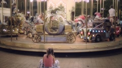 Carrousel for children Stock Footage