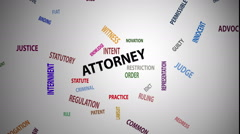 Attorney Word Cloud (60fps) Arkistovideo