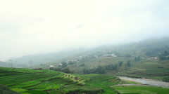Fog in the Mountains of Sapa - Northern Vietnam Stock Footage