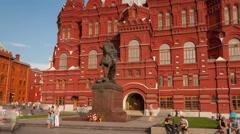 Zhukov monument  hyperlapse 4K Stock Footage