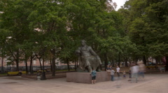 Writer Krylov hyperlapse 4K Stock Footage