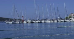 4K Primosten city harbor Stock Footage