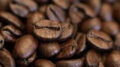 4k Coffee Beans Macro Close Up Rotating Stock Footage