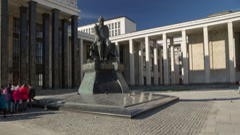 Dostoevsky monument hyperlapse 4K Stock Footage