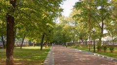 Walk on Pokrovka Boulevard hyperlapse 4K Stock Footage