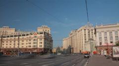 Okhotny Ryad street walk hyperlapse 4K Stock Footage