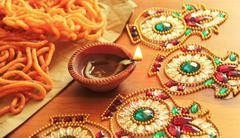Stock Photo of Happy Diwali Diya