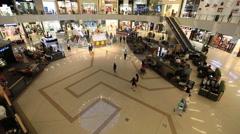 Marina Mall in United Arab Emirates UAE Stock Footage